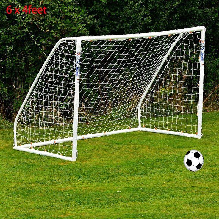 1.8m x 1.2m Full Size Soccer Net 6 x 4FT Polyethylene Twine Soccer Goal White Post Nets Soccer Goal Post Nets For Kids Children