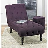 looks comfy...: Curve, Living Rooms, Chaise Lounges, Purple Velvet, Color, Tufted Chair, Master Bedroom, Furniture