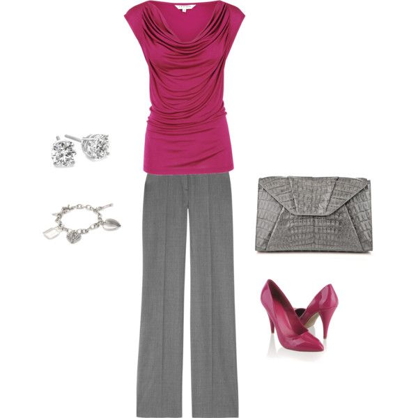 Pink Business Attire, created by christianmama07 on Polyvore