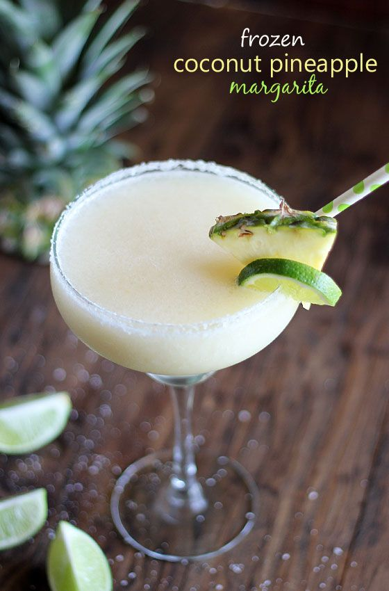 Frozen Coconut Pineapple Margarita  I LOVE being able to make enough to share with friends and this is one of those recipes: Simple, quick and serves a crowd. @theblondcook