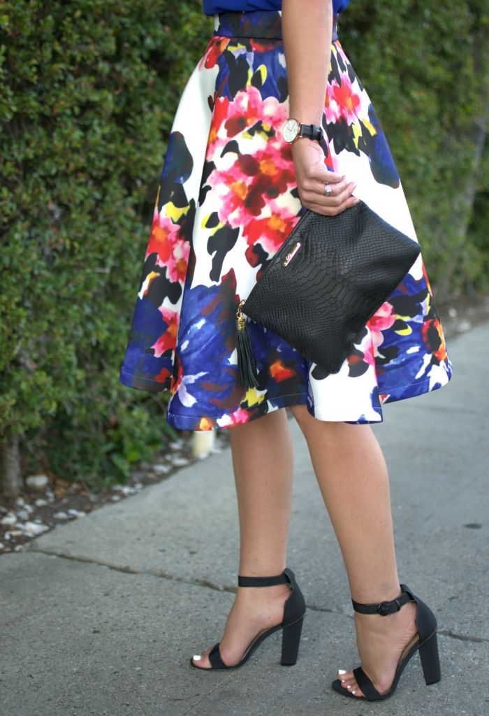 Floral print Midi Skirt   Because Shanna Said So
