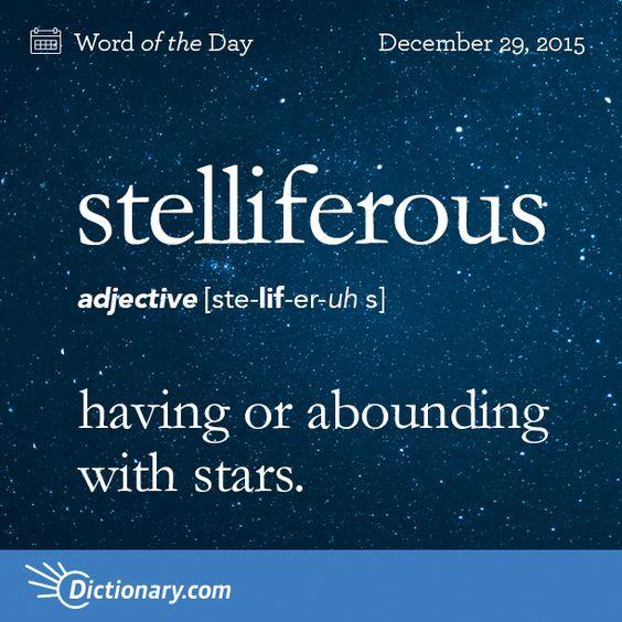 Stelliferous...