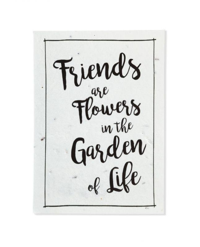 Bloeikaart FriendsStuur een bosje bloemen op per post!In de kaart zijn…