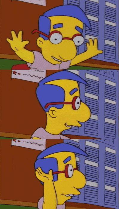 Porque te sientes perfectamente cómodo con quien eres. | 23 Señales de que eres Milhouse Van Hounten de Los Simpson