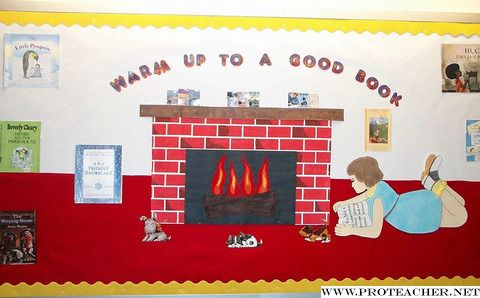 Warm Up With A Good Book Bulletin Board Ideas