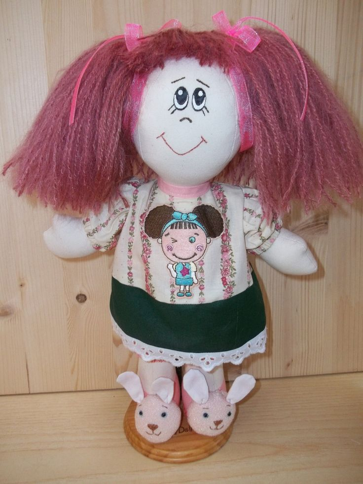 How to Make Rag Doll - Cloth Doll Pattern PDF Rag Doll Sewing Pattern. Doll Hair Tutorial (Ponytails). Step by step (21 photo). Easy to do! from Rosselladolls on Etsy Studio