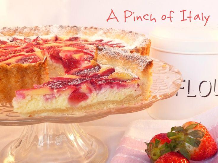 Gluten Free Strawberry and Cream Cheese Tart