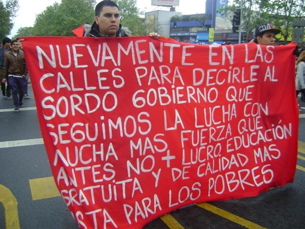 No + lucro en la educación. Marcha CONFECH 11/abril/2013