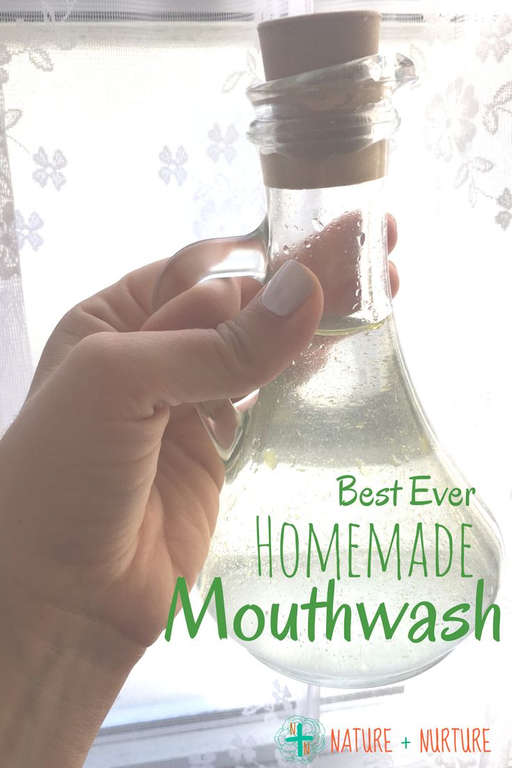 This homemade mouthwash recipe is the best of both worlds - effective and tastes great! Click to try this super simple recipe for a healthier mouth.
