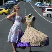 Emerging Dunedin fashion designer Tansy Morris     http://www.facebook.com/pages/Designed-by-Tansy/417499288315408    Photo by Craig Baxter.