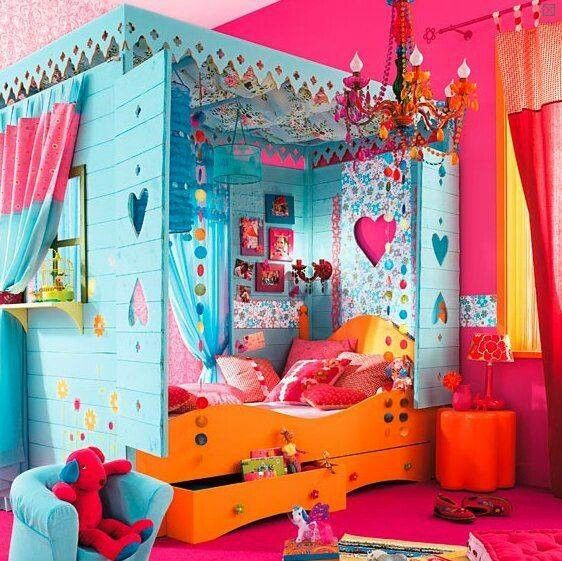 Very Colorful Bedroom