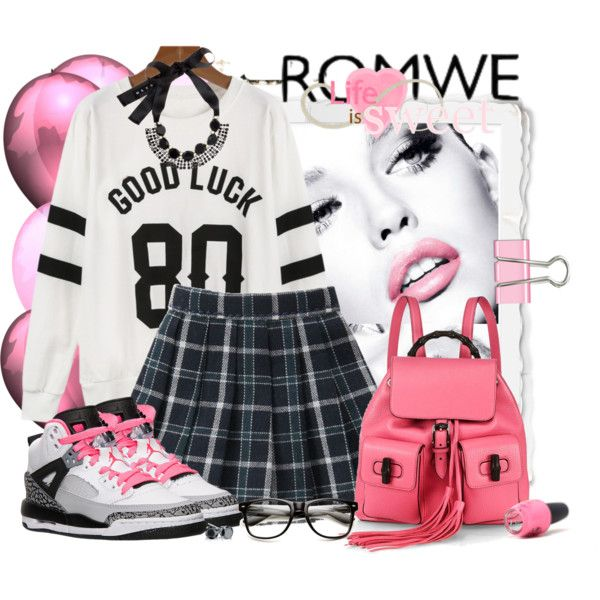 Romwe by marcialaraia on Polyvore featuring moda, Gucci, Marni, Milton & King and OPI