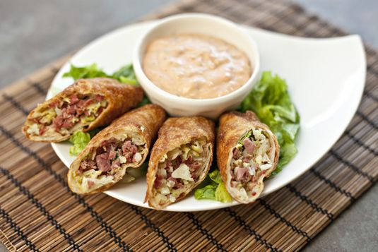 Corned Beef and Cabbage Egg Rolls   Food for My Family