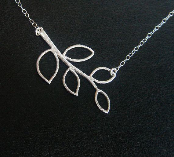 Feuille collier cadeau de demoiselle d'honneur par TheaFashions