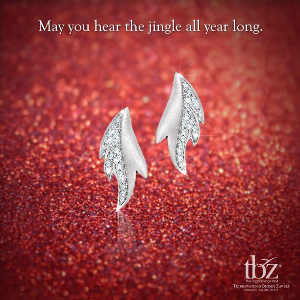 Merry #Christmas folks! #TBZ #Diamond #Earrings #Jewellery #Celebration