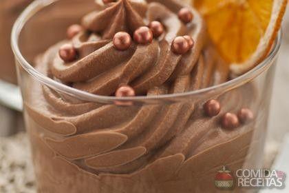 RECEITA DE MOUSSEDE CHOCOLATE E CAFÉ