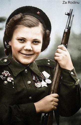 Nina Lobkovskaya - Soviet sniper