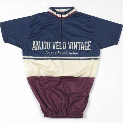 maillot cycliste anjou velo vintage