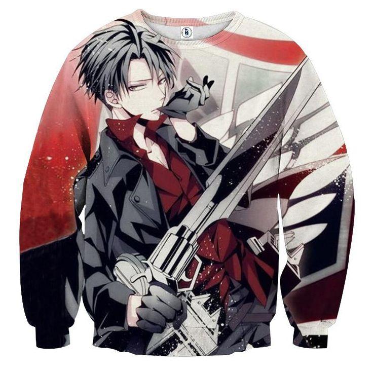 Levi Cool Attack On Titan Sweatshirts