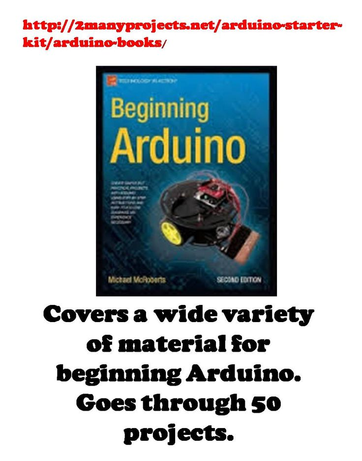 http://2manyprojects.net/arduino-starter-kit/arduino-books/ Book of 50 Projects, perfect for beginners (Scheduled via TrafficWonker.com)