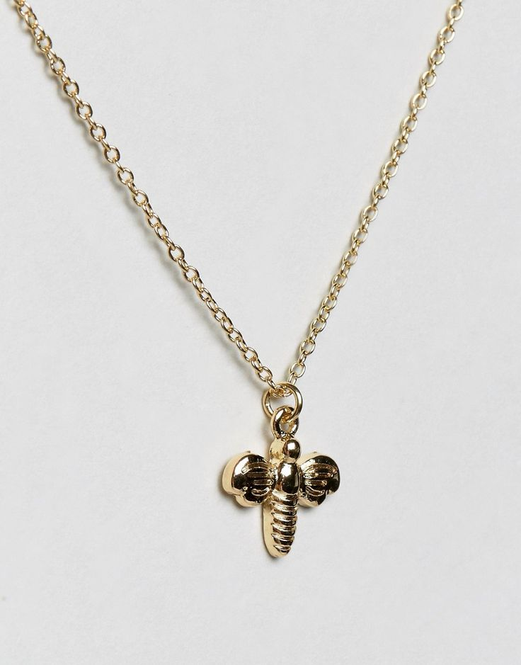 Johnny Loves Rosie Bee Giftcard Necklace - Gold