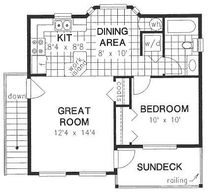 Country garage plan 58562 bedroom apartment decks and for Garage apartment plans 4 bedroom