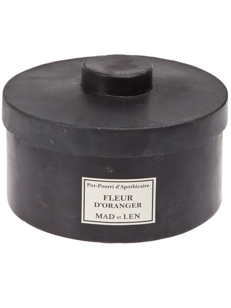 Scented 'Pot Pourri' resin stones from Mad et Lan featuring a black circular case with lid.