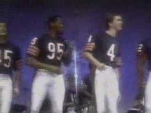 Chicago Bears Super Bowl Shuffle,1985, slightly prior to their win in Super Bowl XX.