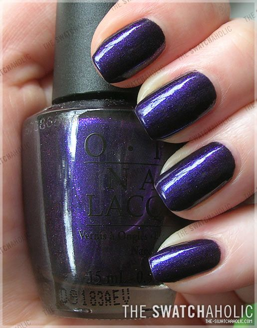 OMG I love this polish! I got my nails done with it a long time ago and have wanted to get it ever since lol - OPI Ink