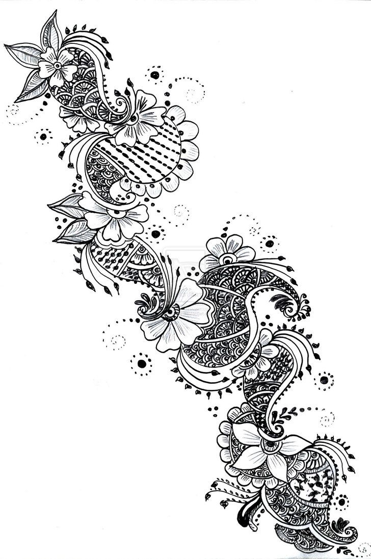 Henna designs paper for Drawing tattoos on paper