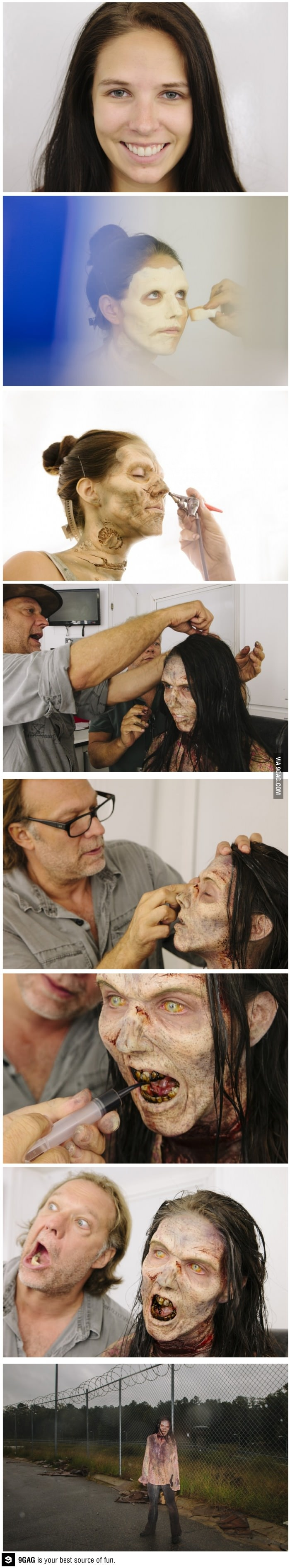 the walking dead makeup...awesome every time i see this.