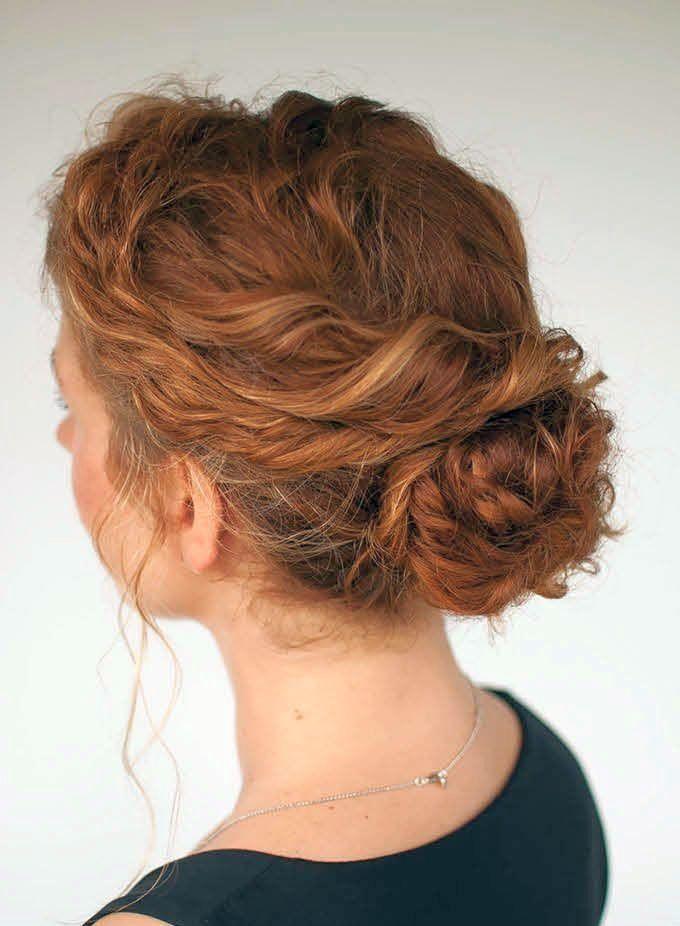 одну пышные прически на средние волосы шпильками фото небольшой миске