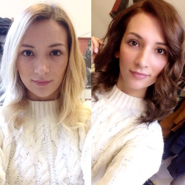 From blonde to brunette  #blonde #brunette #girl #color #hair #hairaddicted #hairmaniac #welovehair #ilovemyjob #before #and #after #pinterest #likeit #loveit #helathy #light