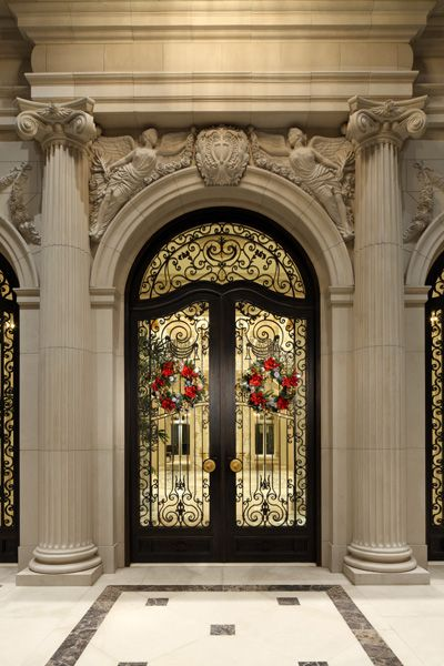 Entry door detail, Beaux Arts mansion in Beverly Hills                                                                                                                                                     More
