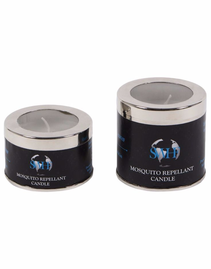 Mosquito repellent bucket candle . 75-100 hrs burning time . Set of 2 candles.