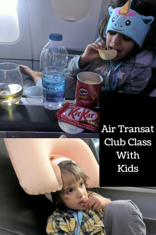 A surprise upgrade to Air Transat's Club Class with kids meant that we were able to forget the stressful security checkpoint experience at Manchester airport