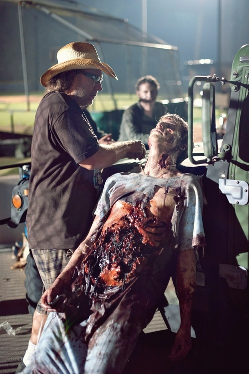 Greg Nicotero, The Walking Dead - I really wanna learn zombie makeup techniques. I would love to be a part of the walking dead.