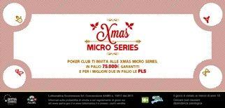 PokerClub: fino al 5 gennaio le Xmas Micro Series con 75mila euro garantiti