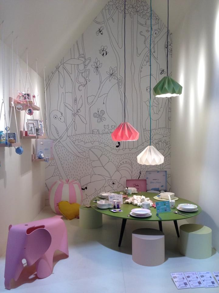 Children's play room With lamps form Studio Snowpuppe,