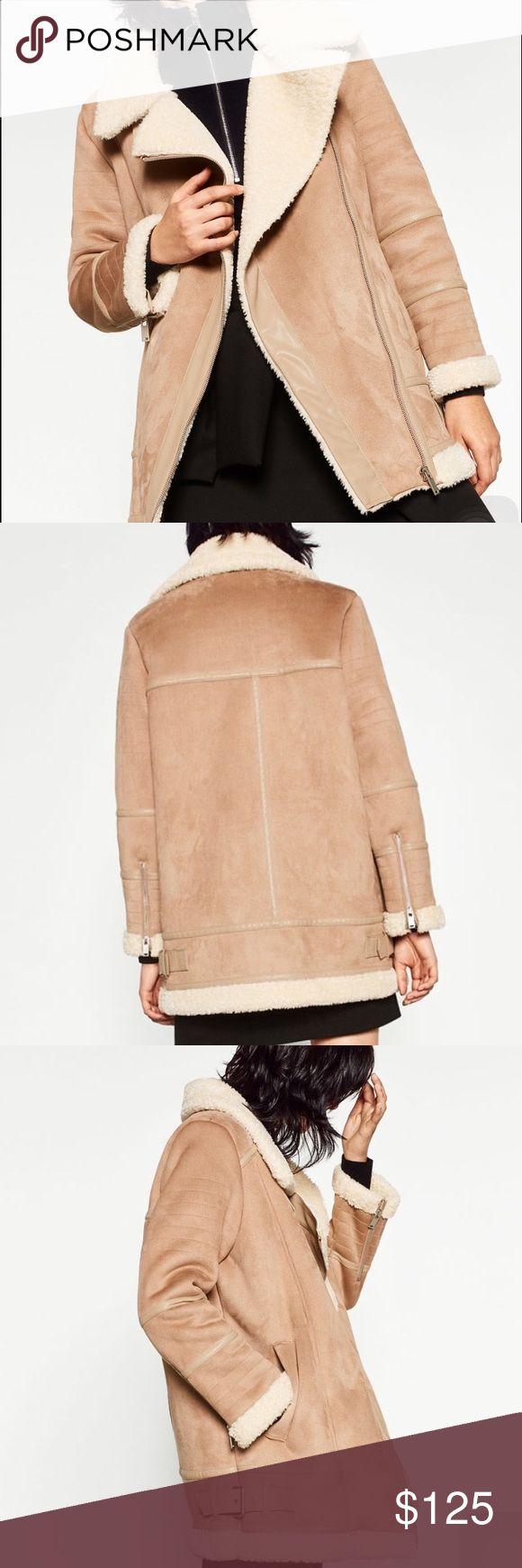 Zara oversized suede effect jacket Zara oversized suede effect jacket Zara Jackets & Coats