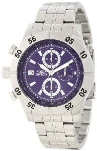 Invicta Men's 11273 Specialty Chronograph Blue Textured Dial Stainless Steel Watch