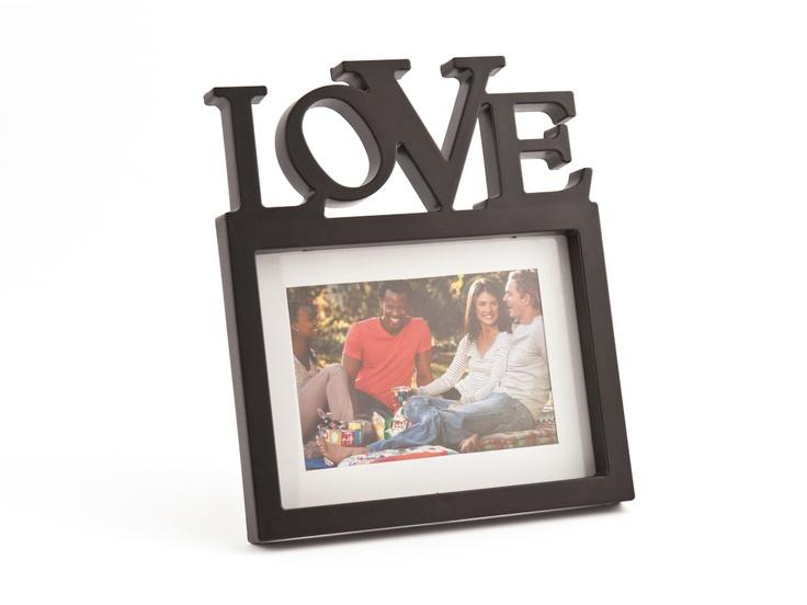 BLACK SCRIPT FRAME LOVE 4X6