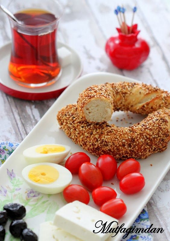 Simit typical breakfast