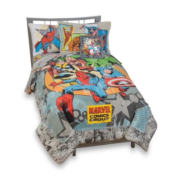 vintage marvel comics complete bedding ensemble