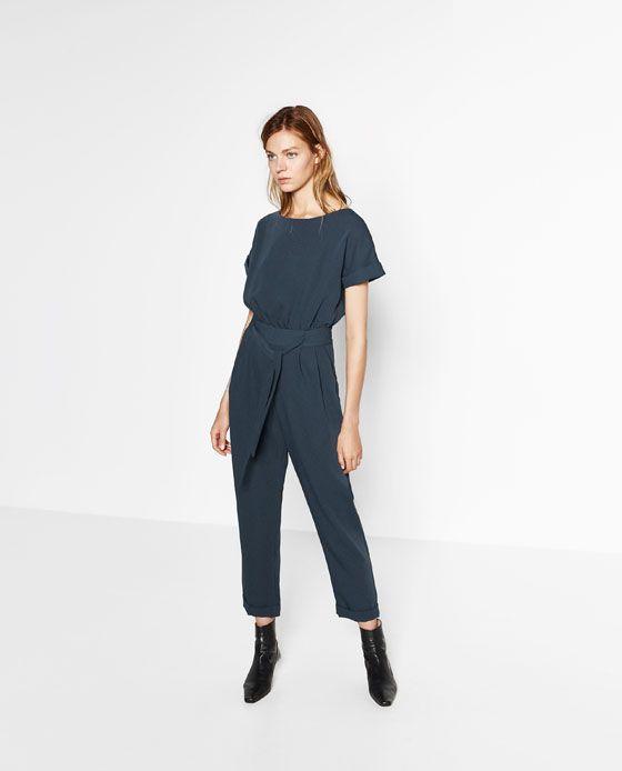 Elegant Zara Jumpsuit With Elastic Waist In Black  Lyst