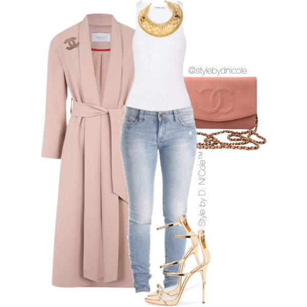 Untitled #3180 by stylebydnicole on Polyvore featuring polyvore, fashion, style, Helmut Lang, CO, Giuseppe Zanotti, Chanel, Balmain, women's clothing and women's fashion