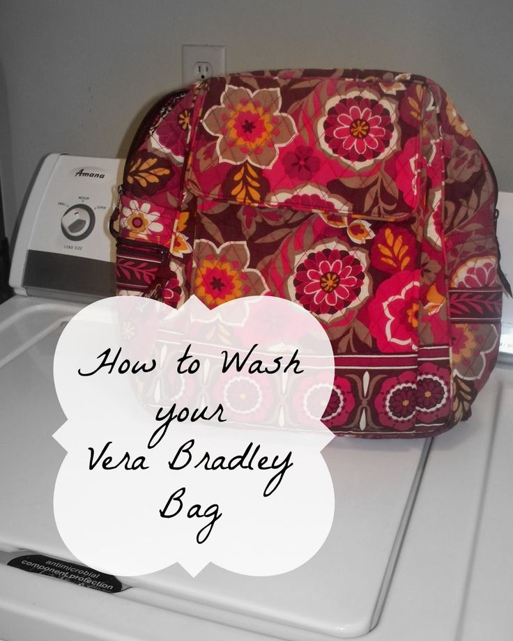 Young Texan Mama: How to Wash a Vera Bradley Bag