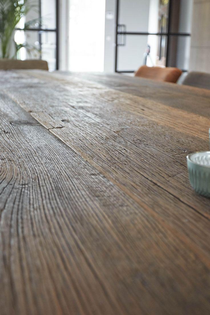 Detail van het mooie hout!