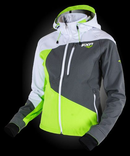 Mission Softshell Hoodie - Motocross Gear, Snowmobile Apparel, Racing Jackets - FXR Racing