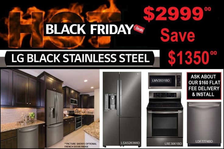 LG Black Friday Kitchen Appliance Sales Save $1,100.00   Stop into our Mesa T.V. & Appliance showroom at 456 West Main Street Mesa, AZ 85201 and ask to speak with a representative about our BUILD YOUR OWN package offer. Call us at 480-969-2971 to learn more about this exclusive deal! You can also visit our main website http://www.mesatvappliance.com/